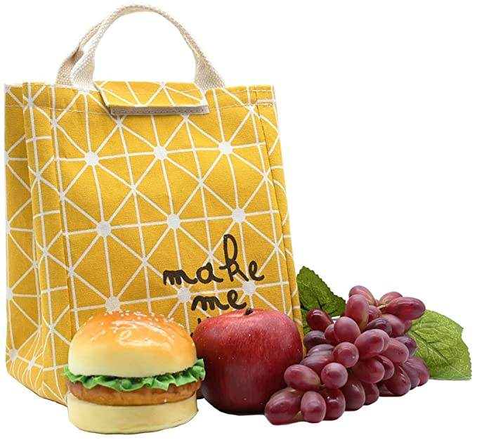 yellow material 600D lunch bag for picnic and go to the office