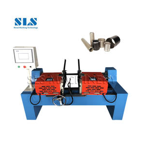 Factory Price Sale Automatic Angle 45 Degrees Tube Edge Beveling Deburring Machine Both Side Double Head End Chamfering Machine