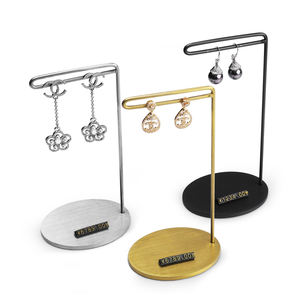 Hot sales T bar earring holder custom metal jewelry display stands