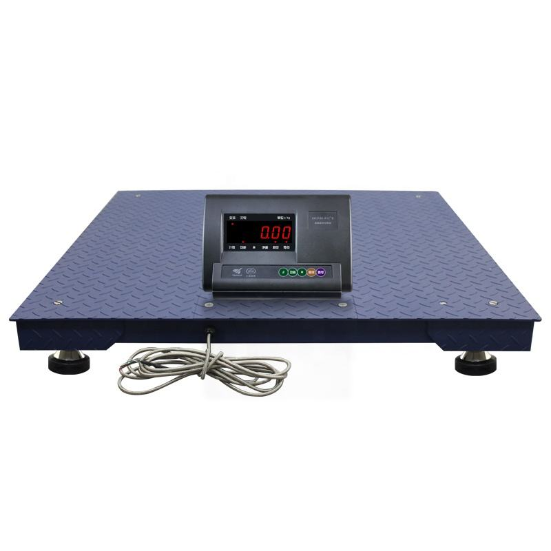 1 ton 2 ton 3 ton 1x1m Digital Electronic Platform Weighing Floor Scale With LED Display