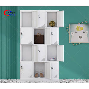Portable Wardrobe Military Metal Clothes Shoes School Hostel Furniture Stainless Steel Lockers
