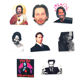 8 PCS Different Glossy Keanu Reeves Stickers You're Breathtaking Love Meme Sticker for Phone Case Mug