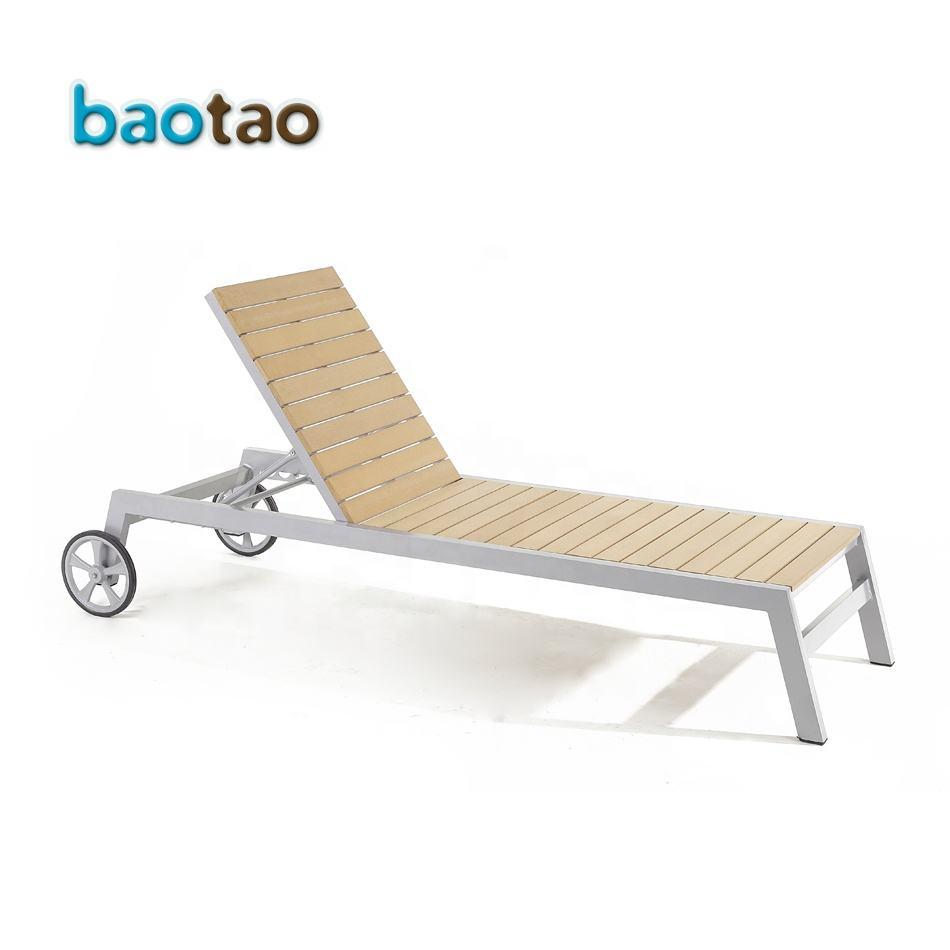 - Outdoor Kunststoff Holz Liege/kunststoff Garten Chaise Lounge