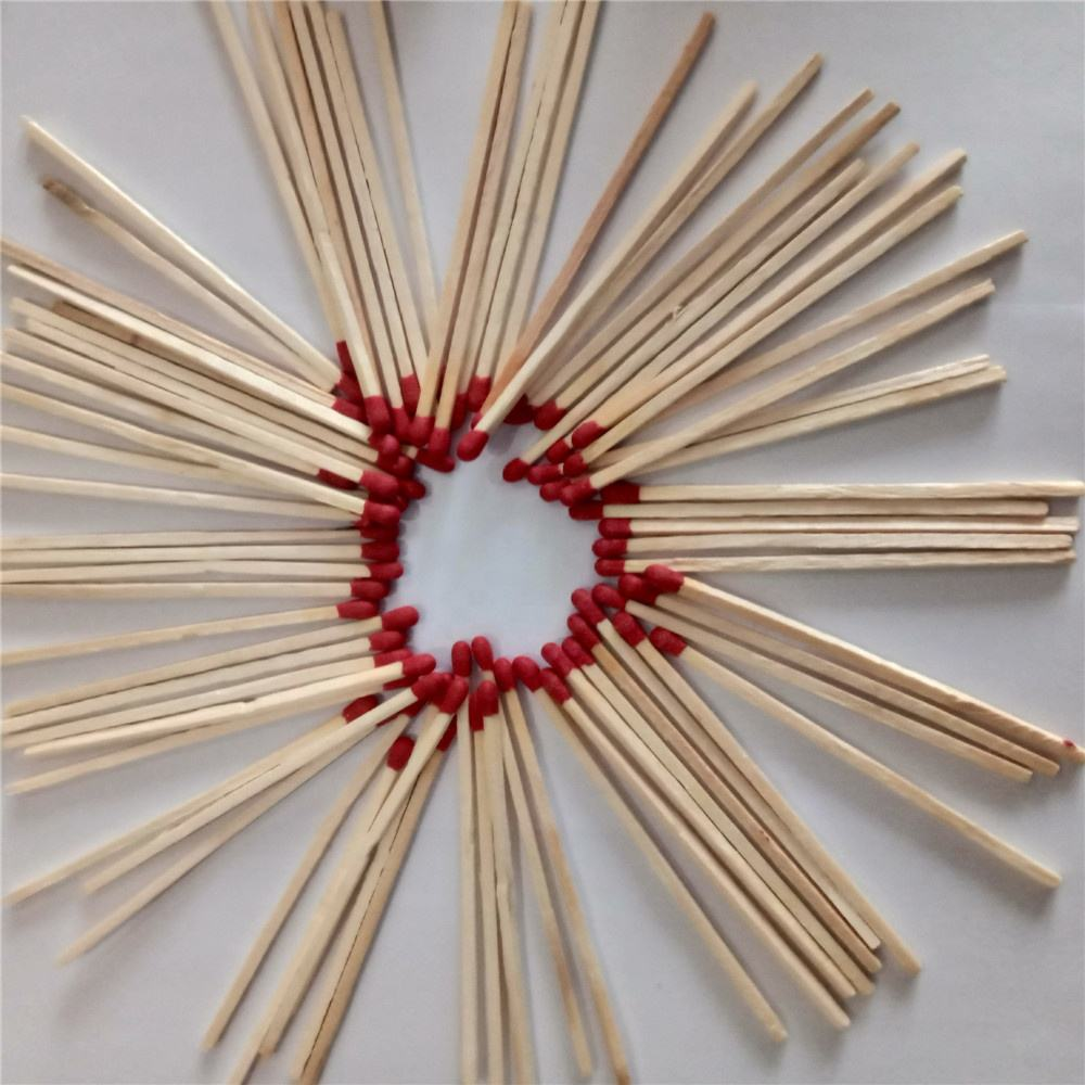 China factory wooden match lighter in bulk colourful matches