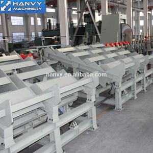 Hanvy Log Material Cut off saw Line with step deck for plywood factory and sawmill