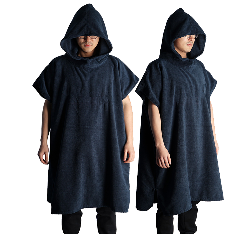 Cotton or Microfiber Surf Wetsuit Beach Changing Poncho Towel with Hood Hooded Bath Robe Poncho