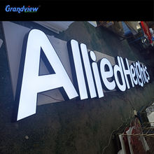 China Sale Outdoor Advertising Light Design 3d Plastic Acrylic led Alphabet Letter