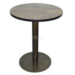 2020 Modern restaurant furniture dining table metal round table leg for 4 seater table