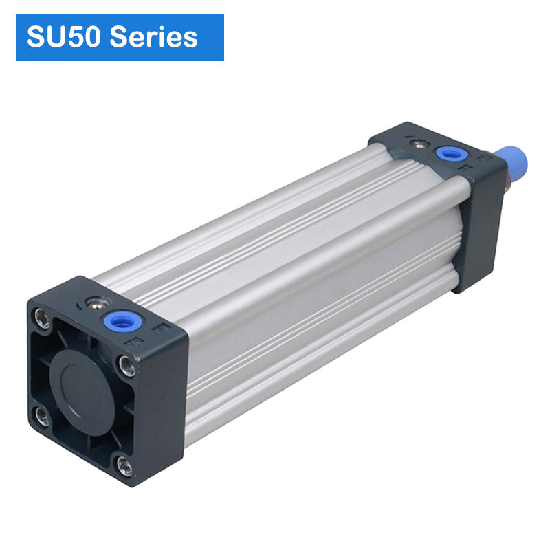 SU50 Standard Aluminum Material Piton Type Pneumatic Air Cylinder maximum stock1000mm
