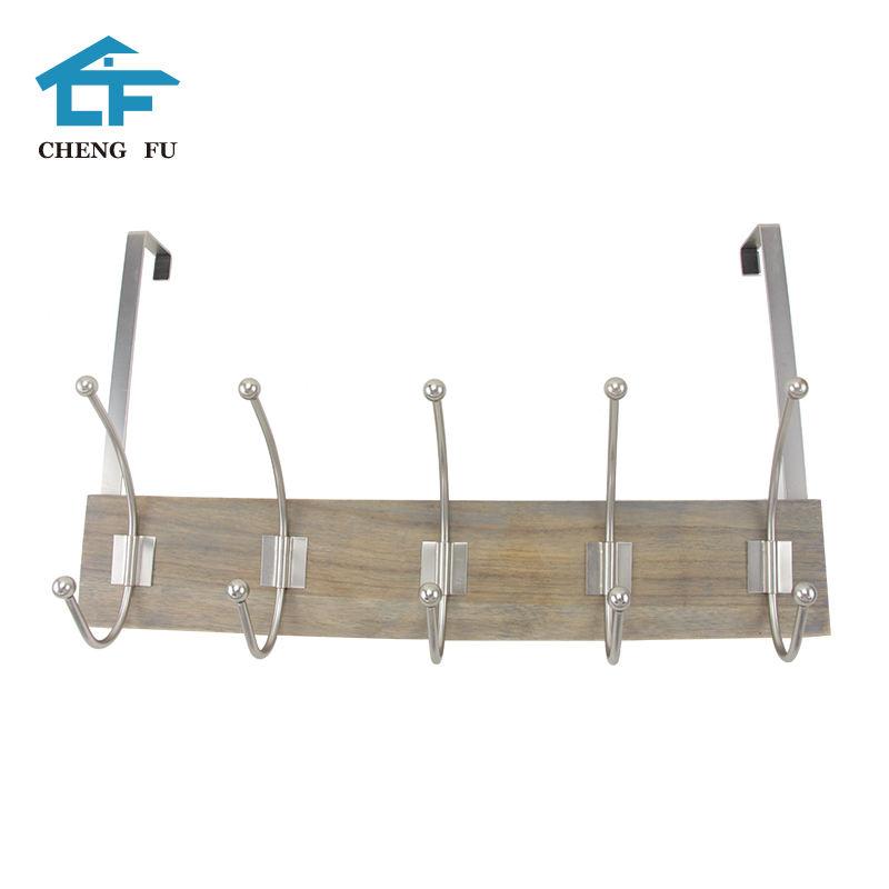Mejor venta de calidad puerta de madera de la pared suspensión clave gancho estante