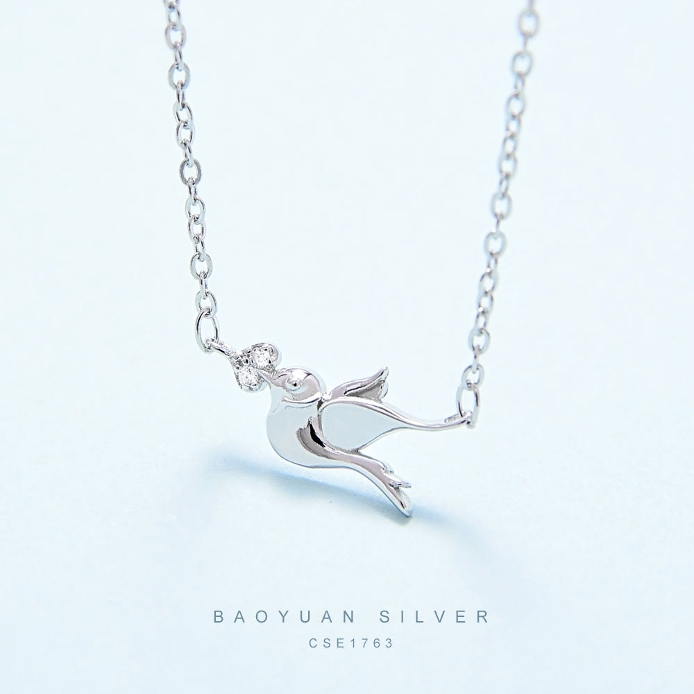BAOYUAN 925 sterling silver 925 silver chain necklace with your own logo CSE1763(R) With Argent Sterling 925