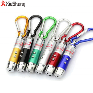 3 in 1 multifunction 6 color Laser Pointer LED Flashlight Mini UV Light Keychain torch