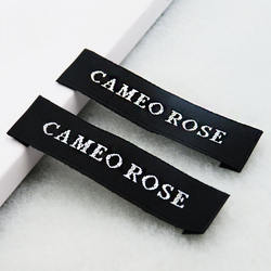 Wholesale Design Printing Brand Own Logo Woven Labels Clothing Custom