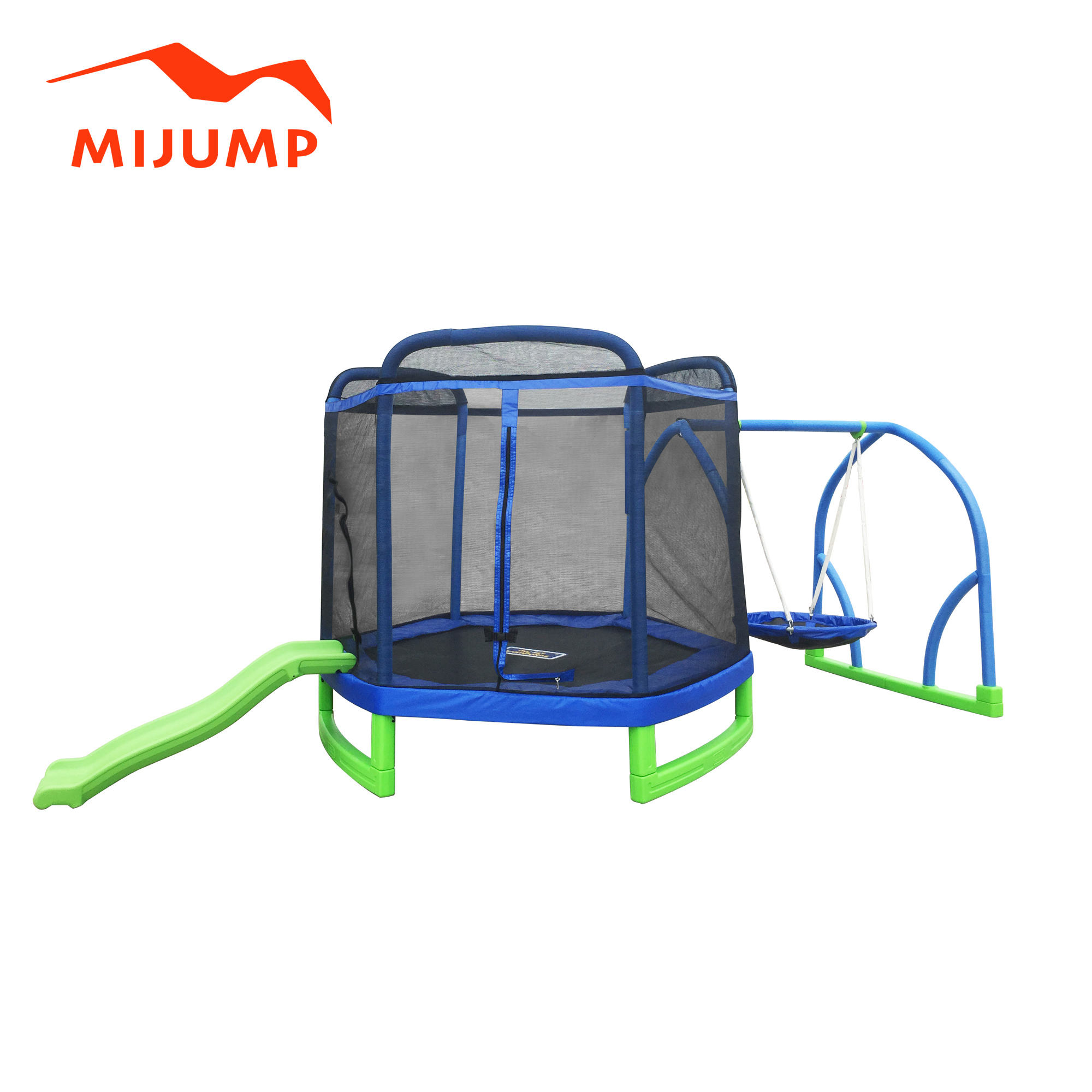 7ft trampoline with slide and swinging stage