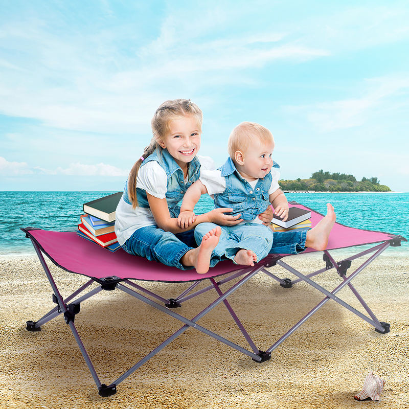 Best Outdoor Travel Oxford Foldable Children Cot Bed