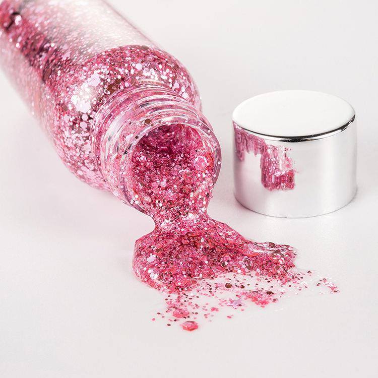 Body & Gezicht Laser Flash Poeder Make Art Ogen & Lippen <span class=keywords><strong>Glitter</strong></span> Gel Pailletten Glow Decoratie Party Festival Crème voor eye