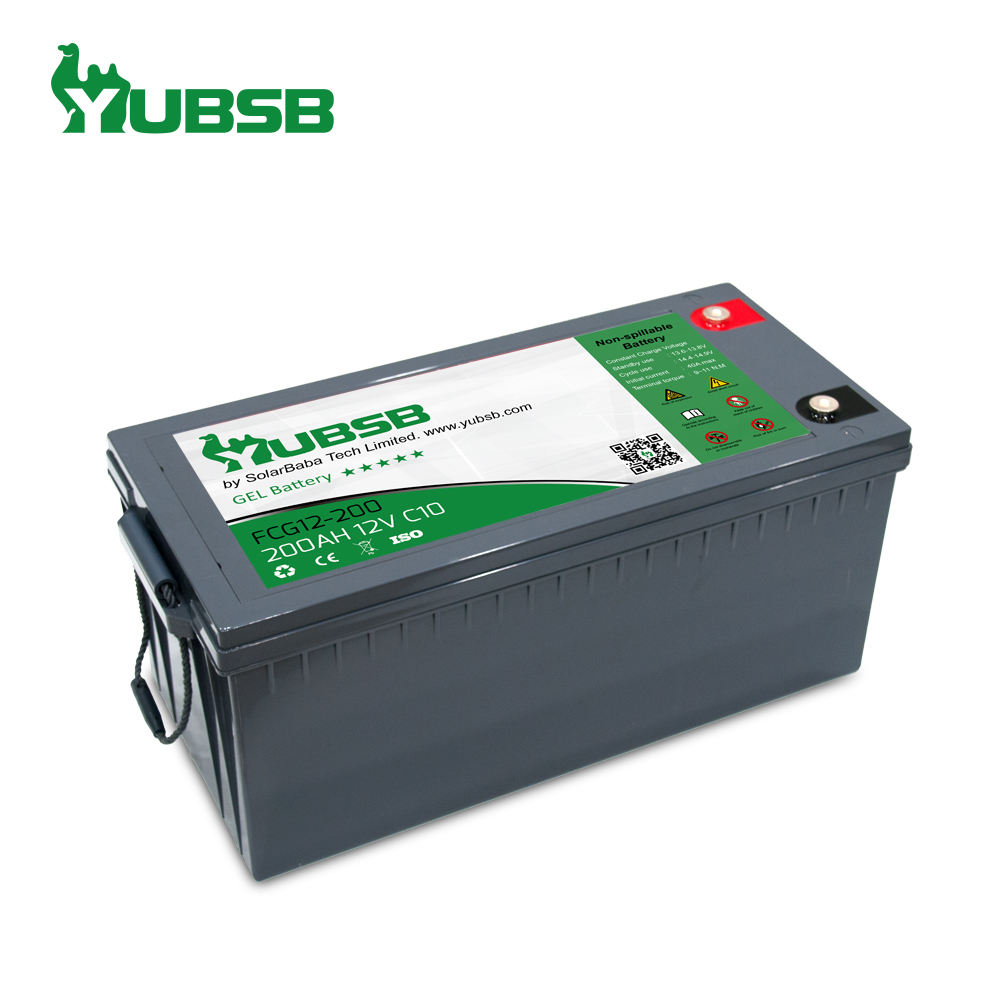 Rechargeable Agm gel battery 12v 200ah tubular gel solar battery