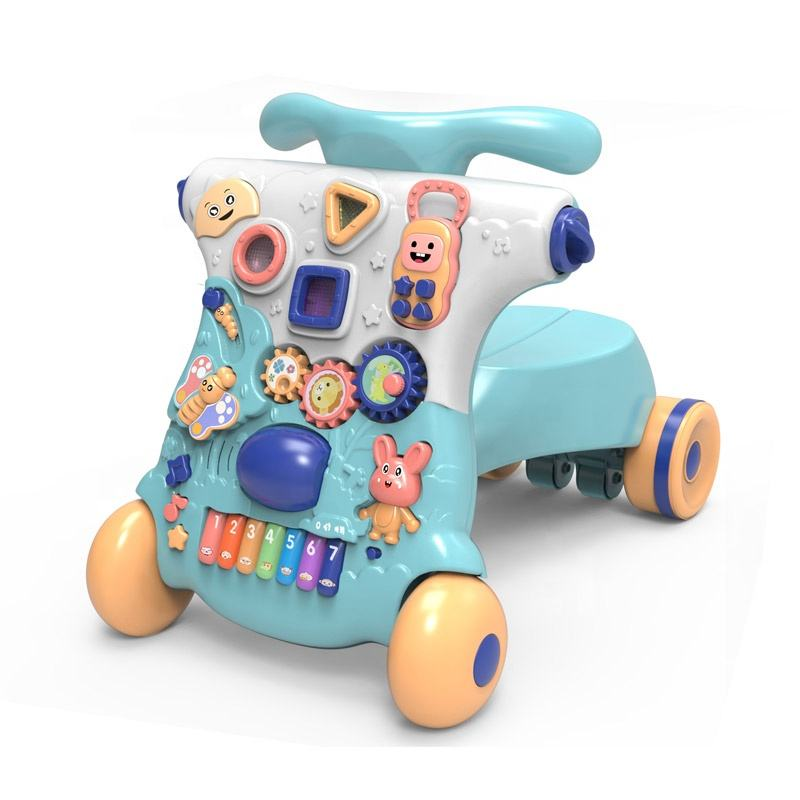 Battery operated educational ECO-freindly safety baby walkers stroller multifunction with light and music