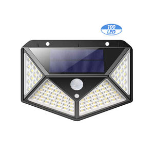 100 LED Outdoor Wireless Wasserdichte Motion Sensor Solar Licht für Garten