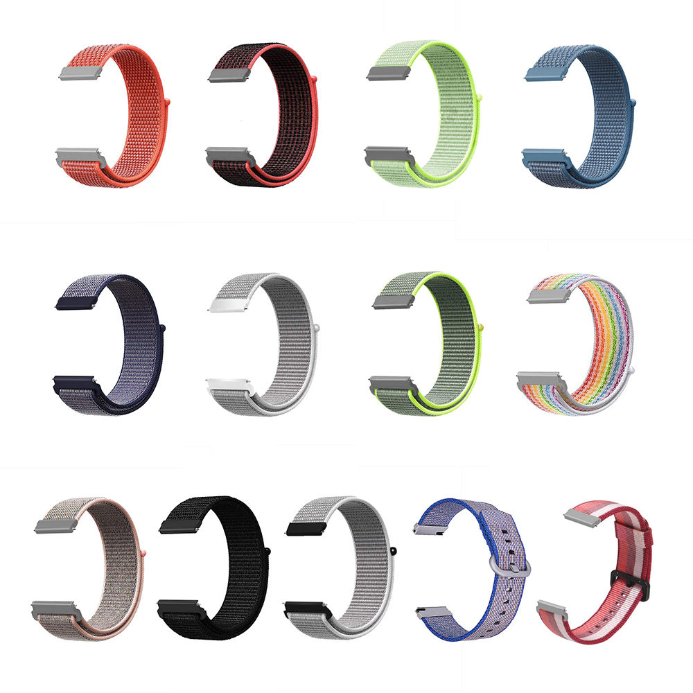 New Arrived Nylon Watch Strap 18mm 20mm 22mm Sport Loop Watch Bands for Samsung Galaxy Watch
