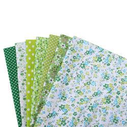 7 Pieces DIY Cloth Mixed Color System Pure Cotton Plain Weave Small Flower Handicraft 25cm*25cm