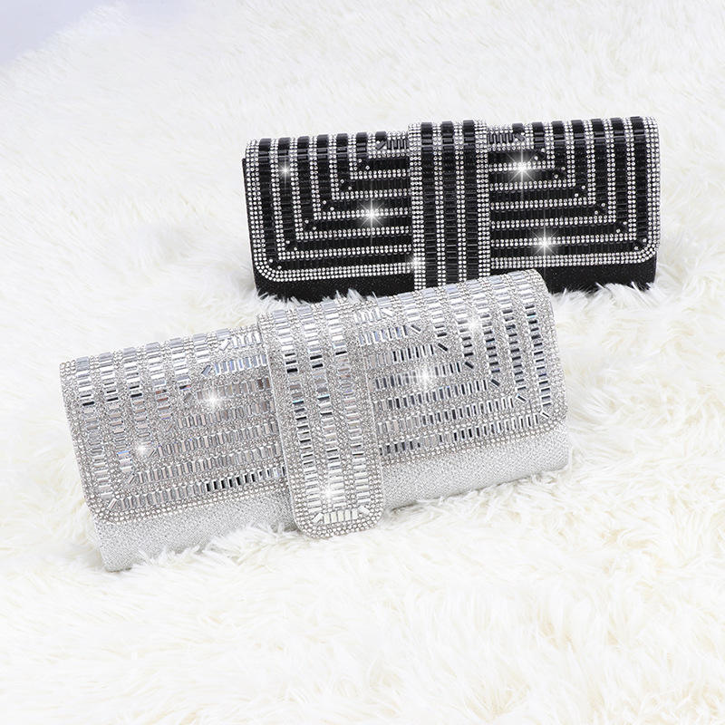 LOVEVOOK 2021 brand luxury rhinestone shining evening purses clutch women chain messenger shoulder bag women lady evening bags