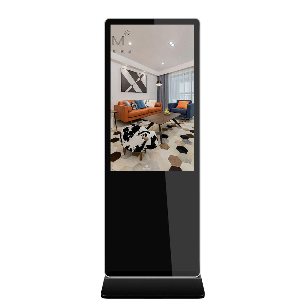 Interactive Advertising Media Player Digital Signage Totem 55 Inch