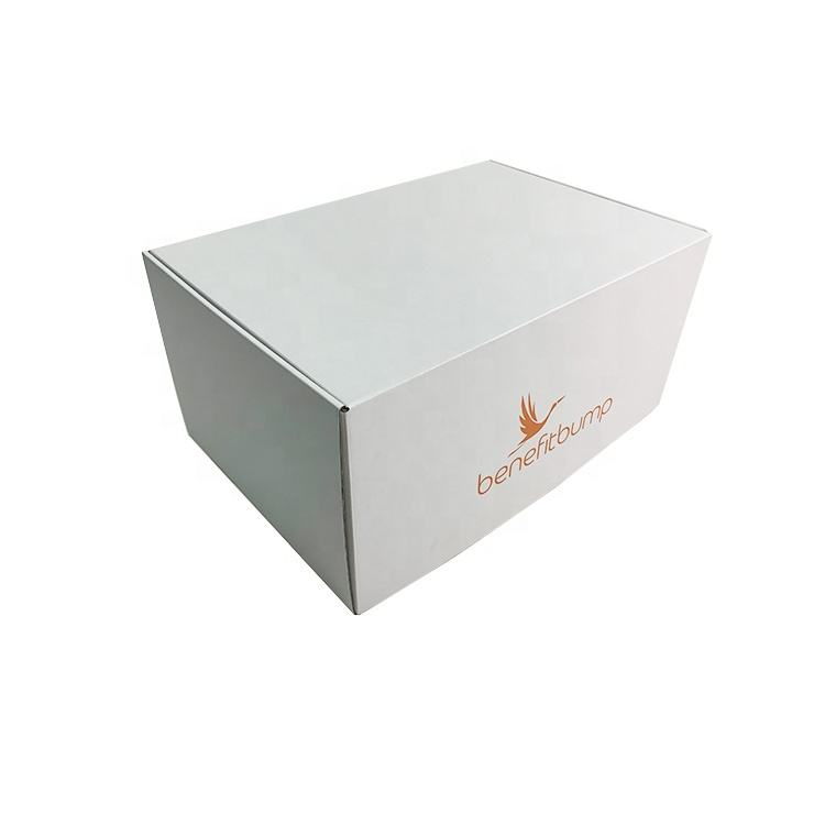 Custom Printing Logo White Recycled Flat Tuck Top Corrugated Mailer Box Cardboard Gift Packaging Box