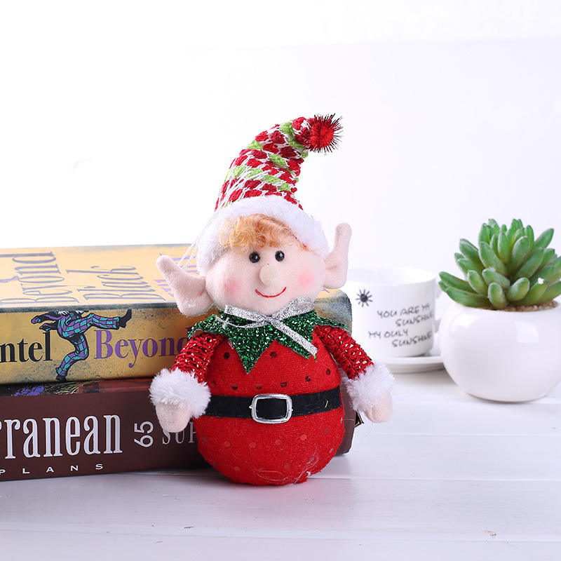 41cm Christmas Party Plush Festive Elf Helper Standing Figure Decoration