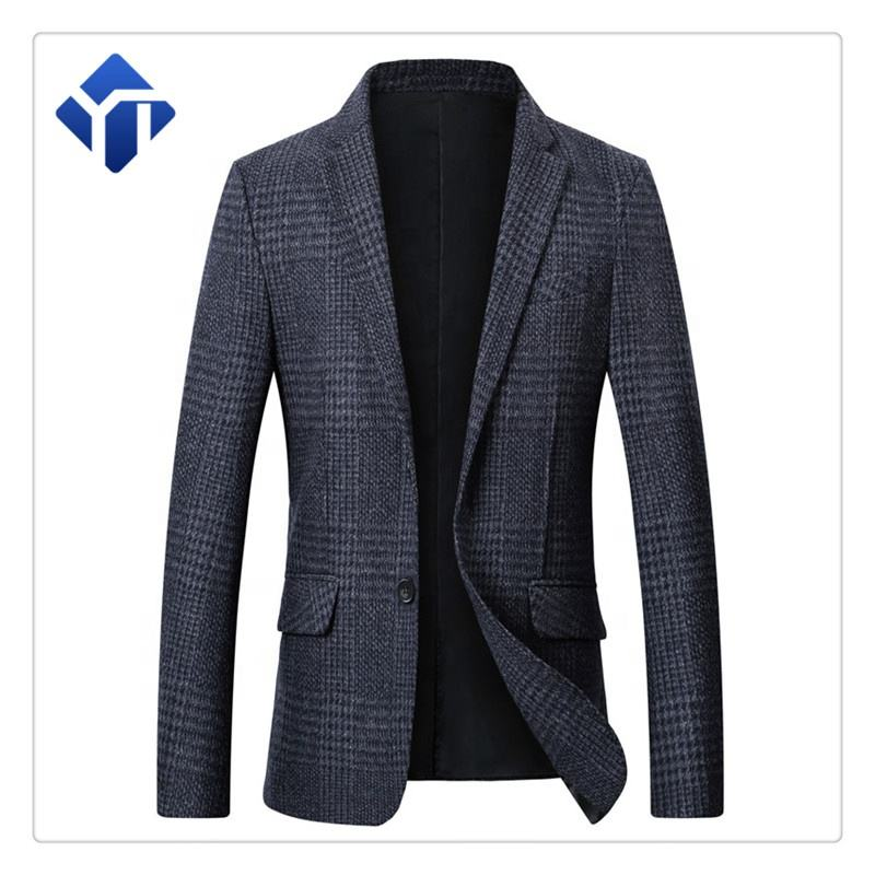 Low MOQ Custom High quality men's suits wool suit blazers for men