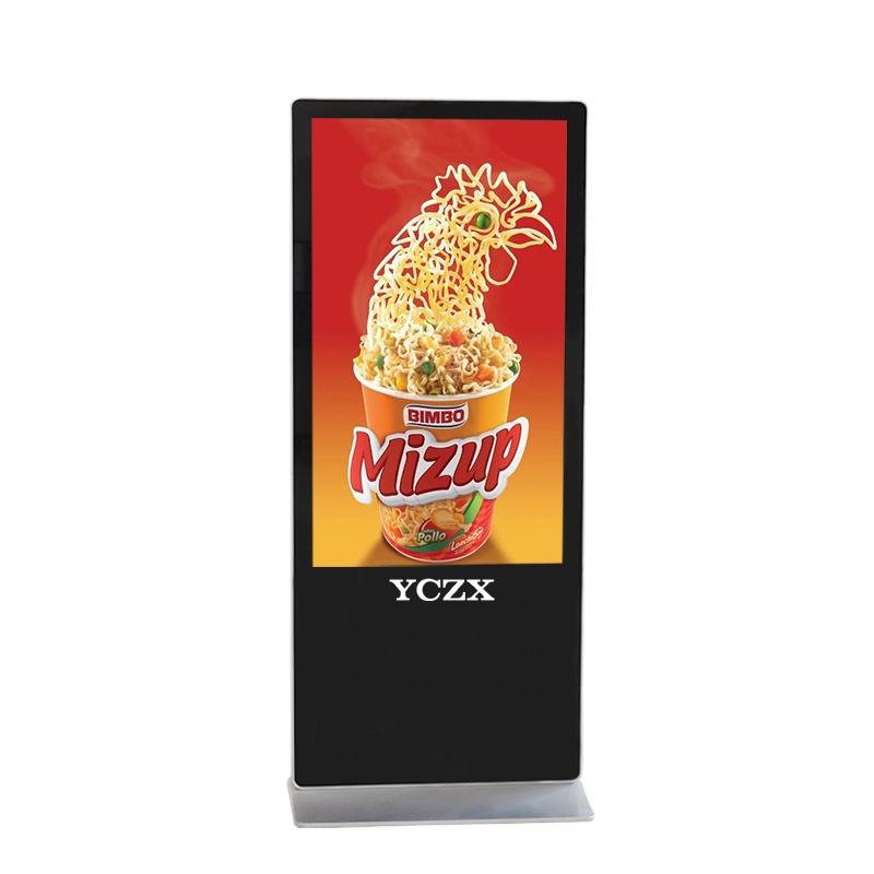 Graphic Customization [ Video Player ] Floor Standing Lcd Advertising 58 Inch Floor Standing Video Lcd Touch Led Advertising Display Player With Internet