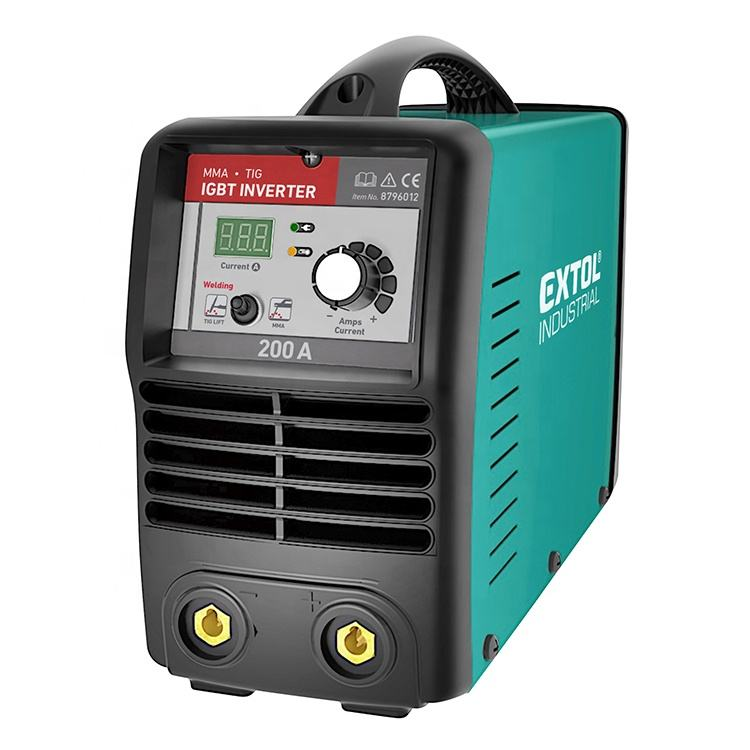 8796012 EXTOL Industry Energy-Saving Mini Portable ARC Welder MMA TIG 200A Smart Arc Welding IGBT Inverter Welding Machine