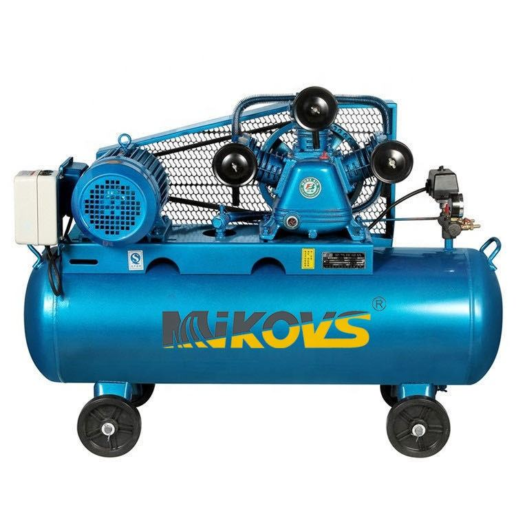 4kw Best Price 10 Hp 500l Belt Driven Industrial Electric High Pressure Air Compressor with Wheel