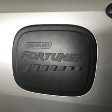 High quality 2015-2016 Fortuner black oil tank cover gas tank cover Fortuner 2016 SW4 car accessories YCSUNZ