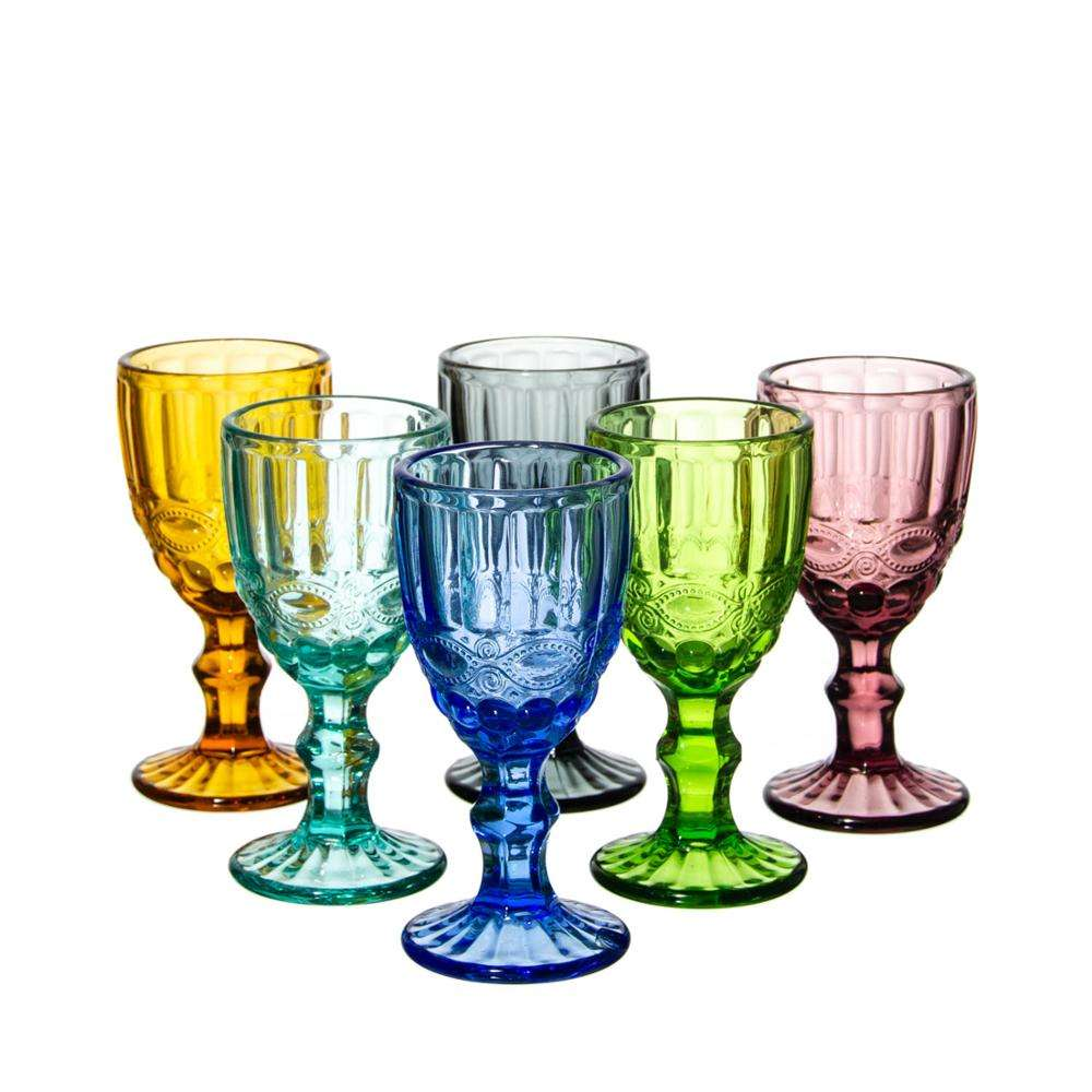 samyo Stocked machine pressed colored glass drinking glasses cup with bubble for home