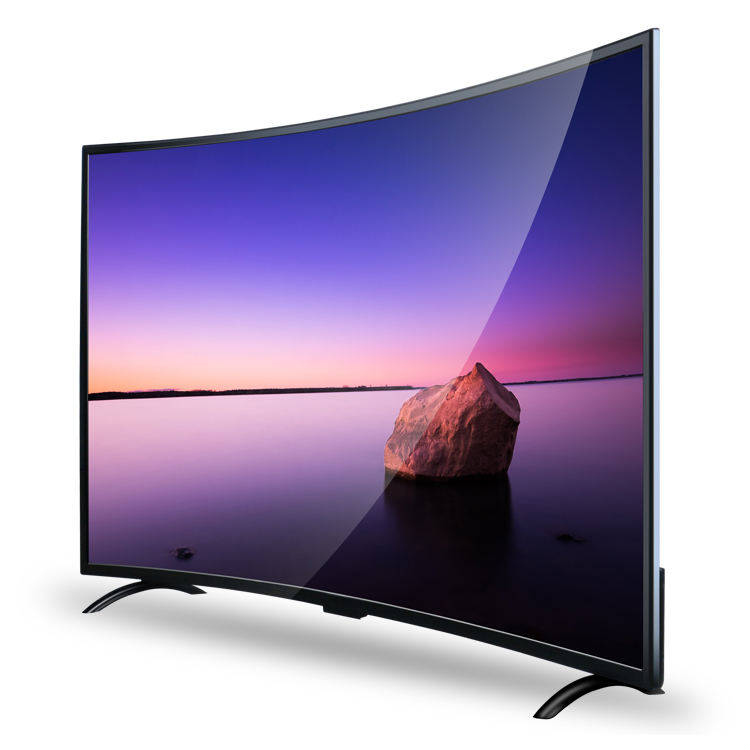 On Line Spring Festival OEM UHD Screen 4K LED Television Smart Curved TV