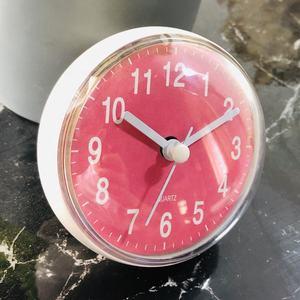 Wasserdichte Küche Bad Mini Sauguhr Nette Dusche Wanduhr Pink