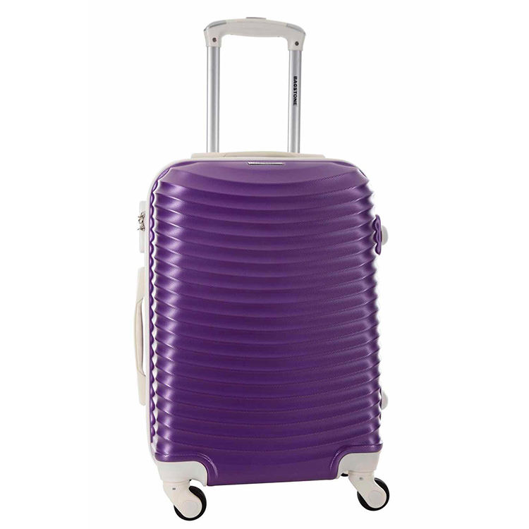 purple 3 piece 100% bas Hardside Luggage Set Spinner Suitcase with TSA