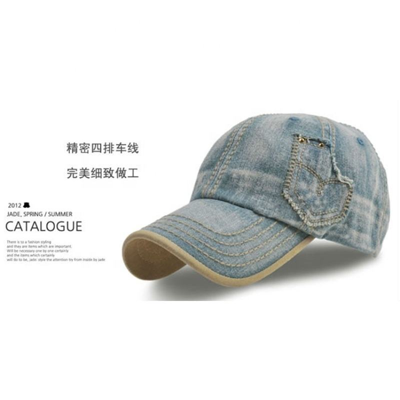 Denim-Panel sombrero Casual gorra de béisbol