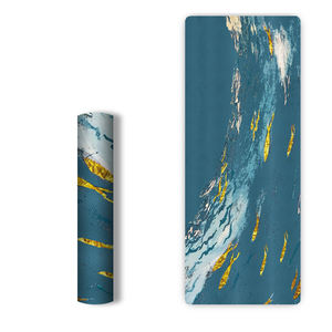 Wholesale superior grip double-sided texture 6mm UV Digital Printing TPE Yoga Mat