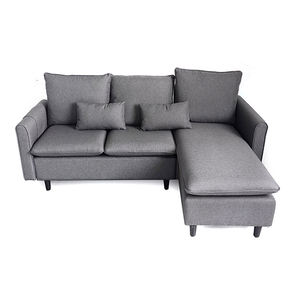 living room luxury 4 seater grey linen sofas morden fabric l shape sofa