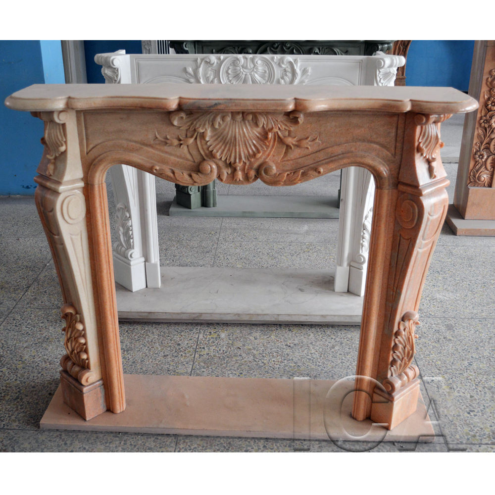Wholesale high quality Western decorative living marble fireplace