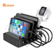 2020 Newest USB Charging Station Dock 6 Ports Desktop Charging Stand Organizer Detachable with USB C PD Charger for Mobile Phone