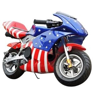 Kids Petrol Mini Moto Factory hot sale Adult and kids 49cc gas two wheel chain drive pocket bike motorcycle