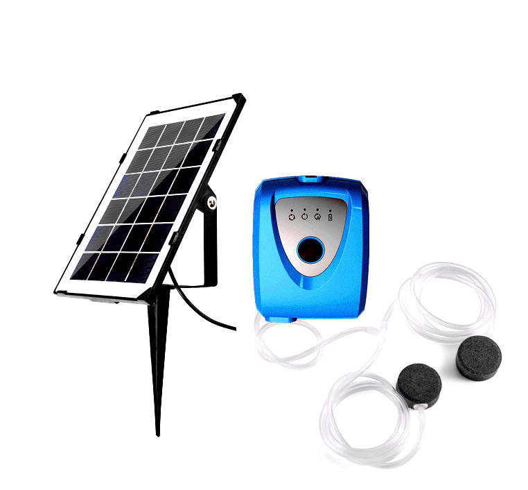 Solar Powered Air Pump Kit with 3.5W Solar Panel for Fish Pond, Outdoor Fishing