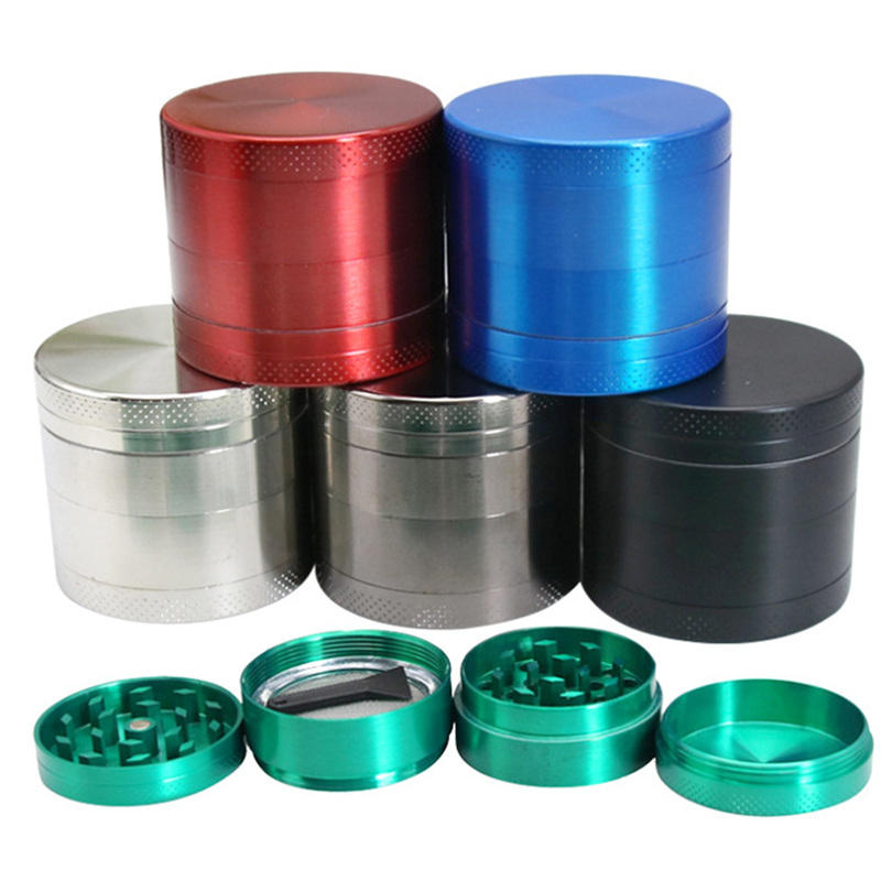 smoking grinders cool metal aluminum beer electric weed grinder custom logo dry herb grinder weed tray and grinder