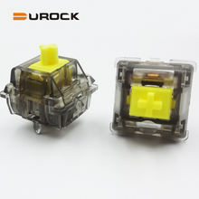 DUROCK Tactile Switch T1 with 67g bottom out force round bump similar Panda Switch for Custom Mechanical Keyboard
