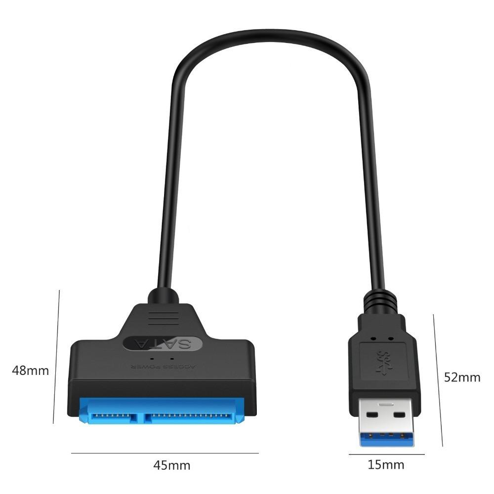 USB 3.0 SATA 3 Cable Sata to USB 3.0 Adapter Support 2.5 Inches External HDD SSD Hard Drive 22Pin Sata III Cable Type C USB 2.0