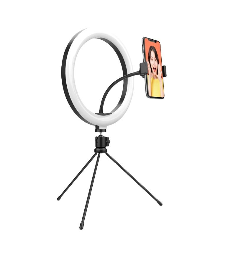2020 new Desktop ring light 10 inch beauty LED ring light with tripod fill light mobile phone live broadcast