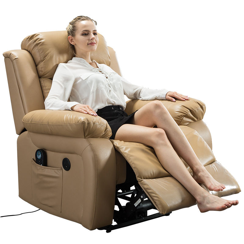 Sofa Electric Leather Set Modern Single Remote Control Natuzzi Usb Hand Okin Motor Chesterfield Beauty Lazy Recliner Chair